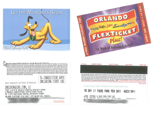 [Floride 2011 - Trip Report] WDW,DCL,USO,IOA,KSC,DC,BG,SW,ETC ... - Page 4 Tickets